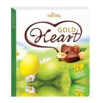 """Набор шоколадных конфет Heart Chocolates gold """"Лесной орех"""""""